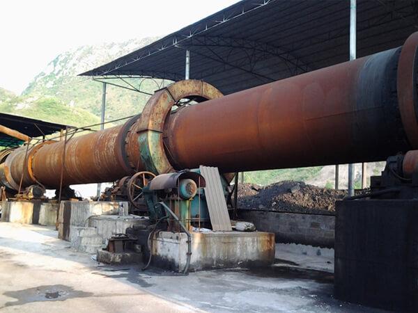 陕西日产800吨白云石回转窑生产线